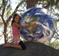 1 Meter Inflatable World Globe w/ Global Handbook