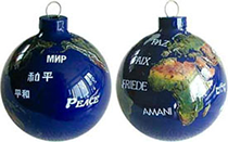 Natural Earth Peace Ornament