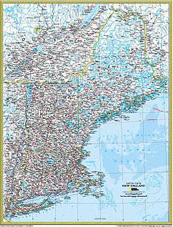 New England Atlas Wall Map