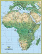 National Geographic Africa Physical Wall Map