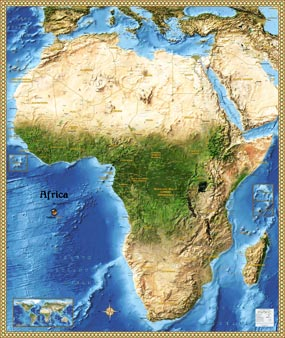 Africa Satellite Wall Map