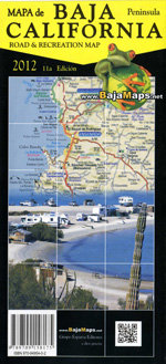 Baja California Guide Travel Map