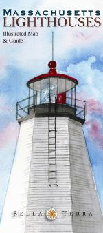 Massachusetts Lighthouses - Illustrated Map & Guide