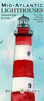 Mid-Atlantic Lighthouses - Illustrated Map & Guide