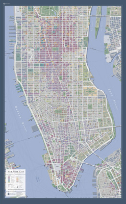 New York City, New York Wall Map