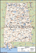 Alabama Deluxe County Digital Map