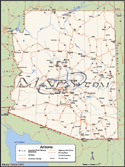 Arizona  Deluxe County Digital Map