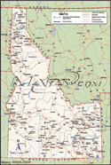 Idaho Deluxe County Digital Map