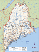 Maine Deluxe County Digital Map