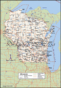 Wisconsin Deluxe County Digital Map
