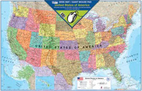USA Map Desk Mat/Giant Mouse Pad