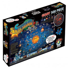 Dinos Solar System 500 Piece Jigsaw Puzzle