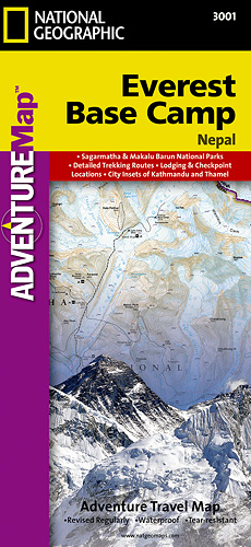 NG ADVENTUREMap of Everest Base Camp