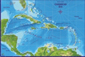 Caribbean Sea Wall Map