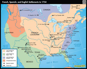 French, Spanish, and English Settlements to 1754