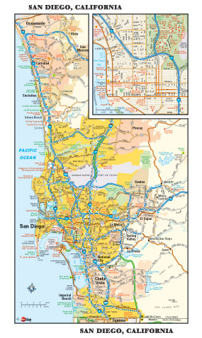San Diego Metro Wall Map