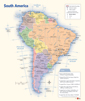 South America Political Wall Map