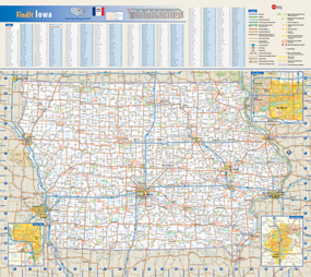 Iowa Wall Map