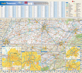 Tennessee Wall Map