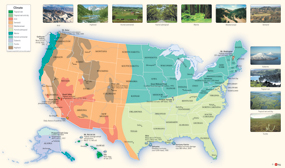 USA Climate Wall Map