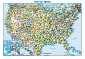USA Interstate Highways Wall Map