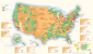 USA Land Use Wall Map