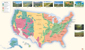 USA Vegetation Wall Map