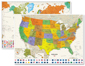 Contemporary USA and World w/Flags Wall Map Set