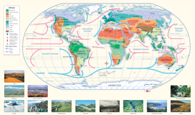 World Climate Wall Map