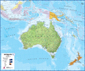 Australasia Wall Map