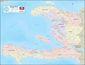 Haiti Earthquake Epicenter Wall Map