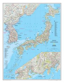 National Geographic Japan and Korea Wall Map