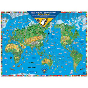 Kids World Desk Mat/Giant Mouse Pad