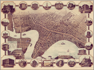 Winnipeg Antique Wall Map