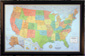 Illuminated USA Wall Map with Frame