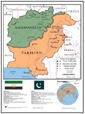 Afghanistan and Pakistan Combo Wall Map