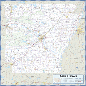 Arkansas Highway Wall Map from Maps.com.