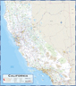 California Highway Wall Map
