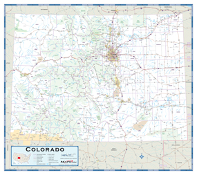 Colorado Highway Wall Map