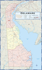 Delaware Counties Wall Map