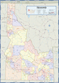 Idaho Counties Wall Map