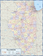 Illinois Counties Wall Map
