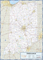 Indiana Highway Wall Map