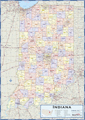 Indiana Counties Wall Map