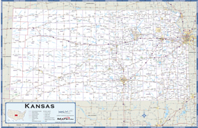 Kansas Highway Wall Map