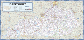 Kentucky Highway Wall Map