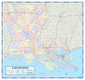 Louisiana Parishes (Counties) Wall Map