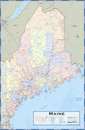 Maine Counties Wall Map