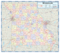Missouri Counties Wall Map