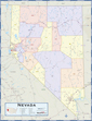 Nevada Counties Wall Map